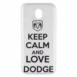 Чехол для Samsung J5 2017 KEEP CALM AND LOVE DODGE - FatLine