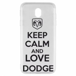 Чехол для Samsung J7 2017 KEEP CALM AND LOVE DODGE - FatLine