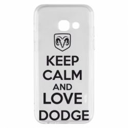 Чехол для Samsung A3 2017 KEEP CALM AND LOVE DODGE - FatLine