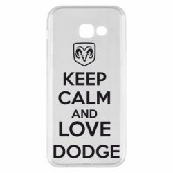 Чехол для Samsung A5 2017 KEEP CALM AND LOVE DODGE - FatLine