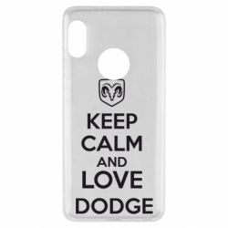 Чехол для Xiaomi Redmi Note 5 KEEP CALM AND LOVE DODGE - FatLine