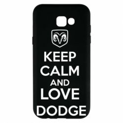 Чехол для Samsung A7 2017 KEEP CALM AND LOVE DODGE - FatLine