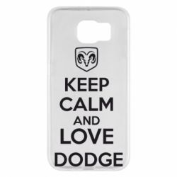 Чехол для Samsung S6 KEEP CALM AND LOVE DODGE - FatLine