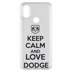 Чехол для Xiaomi Mi A2 KEEP CALM AND LOVE DODGE - FatLine