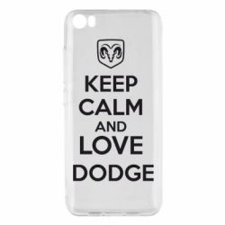 Чехол для Xiaomi Xiaomi Mi5/Mi5 Pro KEEP CALM AND LOVE DODGE - FatLine