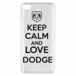 Чехол для Xiaomi Mi 5s KEEP CALM AND LOVE DODGE - FatLine