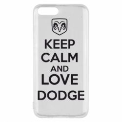 Чехол для Xiaomi Mi6 KEEP CALM AND LOVE DODGE - FatLine