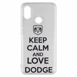 Чехол для Xiaomi Mi8 KEEP CALM AND LOVE DODGE - FatLine