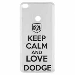 Чехол для Xiaomi Mi Max 2 KEEP CALM AND LOVE DODGE - FatLine