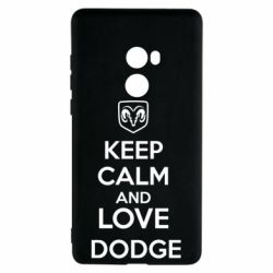 Чехол для Xiaomi Mi Mix 2 KEEP CALM AND LOVE DODGE - FatLine