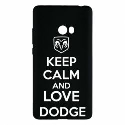 Чехол для Xiaomi Mi Note 2 KEEP CALM AND LOVE DODGE - FatLine