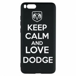 Чехол для Xiaomi Mi Note 3 KEEP CALM AND LOVE DODGE - FatLine