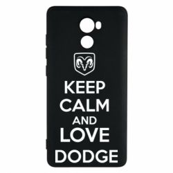 Чехол для Xiaomi Redmi 4 KEEP CALM AND LOVE DODGE - FatLine