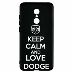 Чехол для Xiaomi Redmi 5 KEEP CALM AND LOVE DODGE - FatLine