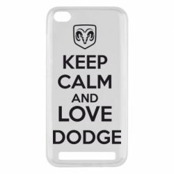 Чехол для Xiaomi Redmi 5a KEEP CALM AND LOVE DODGE - FatLine