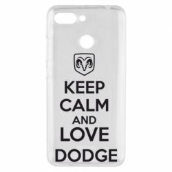 Чехол для Xiaomi Redmi 6 KEEP CALM AND LOVE DODGE - FatLine