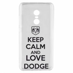 Чехол для Xiaomi Redmi Note 4 KEEP CALM AND LOVE DODGE - FatLine