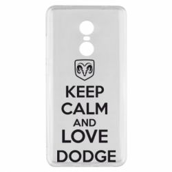 Чехол для Xiaomi Redmi Note 4x KEEP CALM AND LOVE DODGE - FatLine