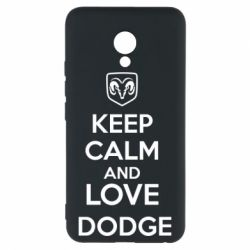 Чехол для Meizu M5 KEEP CALM AND LOVE DODGE - FatLine