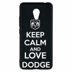 Чехол для Meizu M5c KEEP CALM AND LOVE DODGE - FatLine