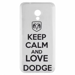 Чехол для Meizu M5s KEEP CALM AND LOVE DODGE - FatLine