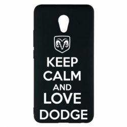 Чехол для Meizu M5 Note KEEP CALM AND LOVE DODGE - FatLine