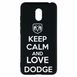 Чехол для Meizu M6 KEEP CALM AND LOVE DODGE - FatLine