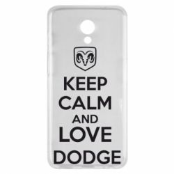 Чехол для Meizu M6s KEEP CALM AND LOVE DODGE - FatLine