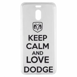 Чехол для Meizu M6 Note KEEP CALM AND LOVE DODGE - FatLine