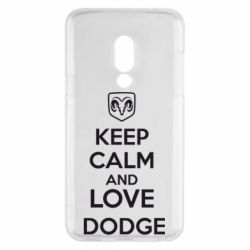 Чехол для Meizu 15 KEEP CALM AND LOVE DODGE - FatLine