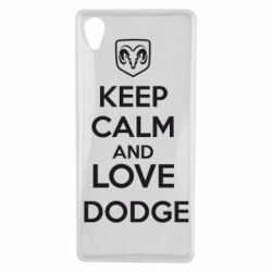 Чехол для Sony Xperia X KEEP CALM AND LOVE DODGE - FatLine