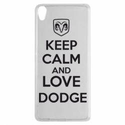 Чехол для Sony Xperia XA KEEP CALM AND LOVE DODGE - FatLine