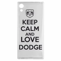 Чехол для Sony Xperia XA1 KEEP CALM AND LOVE DODGE - FatLine