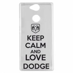 Чехол для Sony Xperia XA2 KEEP CALM AND LOVE DODGE - FatLine