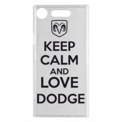 Чехол для Sony Xperia XZ1 KEEP CALM AND LOVE DODGE - FatLine