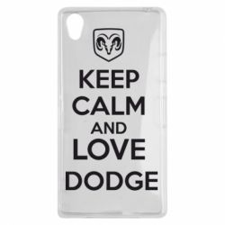 Чехол для Sony Xperia Z1 KEEP CALM AND LOVE DODGE - FatLine