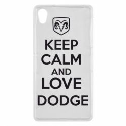 Чехол для Sony Xperia Z2 KEEP CALM AND LOVE DODGE - FatLine