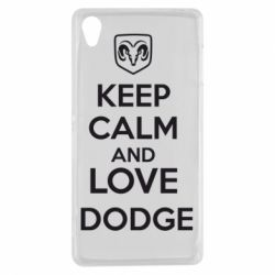 Чехол для Sony Xperia Z3 KEEP CALM AND LOVE DODGE - FatLine