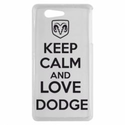 Чехол для Sony Xperia Z3 mini KEEP CALM AND LOVE DODGE - FatLine