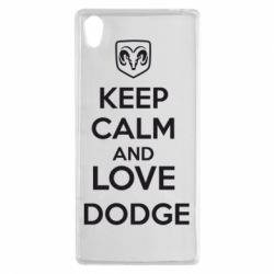 Чехол для Sony Xperia Z5 KEEP CALM AND LOVE DODGE - FatLine