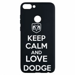 Чехол для Huawei P Smart KEEP CALM AND LOVE DODGE - FatLine
