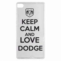 Чехол для Huawei P8 KEEP CALM AND LOVE DODGE - FatLine