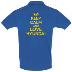 Футболка Поло KEEP CALM and LOVE HYUNDAI - FatLine