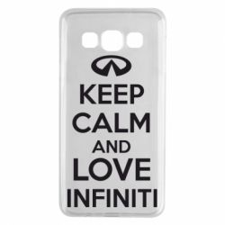 Чехол для Samsung A3 2015 KEEP CALM and LOVE INFINITI - FatLine