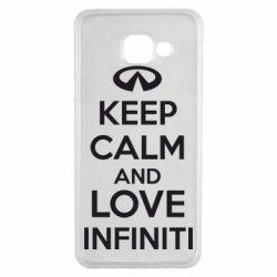 Чехол для Samsung A3 2016 KEEP CALM and LOVE INFINITI - FatLine