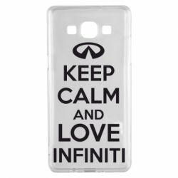 Чехол для Samsung A5 2015 KEEP CALM and LOVE INFINITI - FatLine