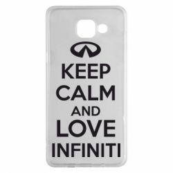 Чехол для Samsung A5 2016 KEEP CALM and LOVE INFINITI - FatLine