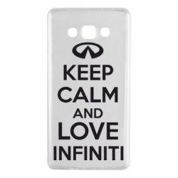 Чехол для Samsung A7 2015 KEEP CALM and LOVE INFINITI - FatLine