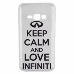 Чехол для Samsung J1 2016 KEEP CALM and LOVE INFINITI - FatLine