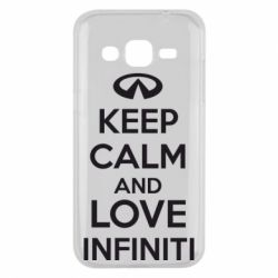 Чехол для Samsung J2 2015 KEEP CALM and LOVE INFINITI - FatLine